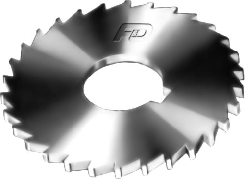 F&D Tool Company 14756 Plain Slitting Saw, High Speed Steel, 10'' Diameter, 1/32'' Width of Face, 56 Teeth, 1 1/4'' Hole Size by F&D Tool Company