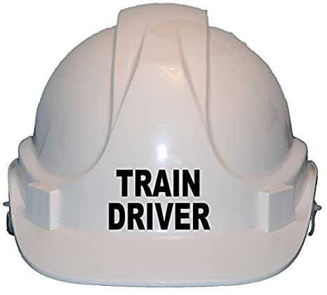 Train Driver Children Kids Hard Hat Safety Helmet with Chin Strap One Size Adjustable Suitable for 4-12 Years Blue