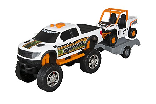 Toy State Road Rippers Light and Sound Trucks and Trailers: Ford F-150 Raptor SVT with ATV - Styles and Colors may Vary