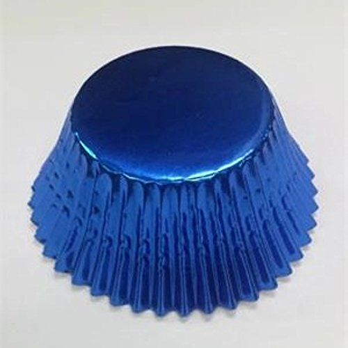 100pcs Foil Paper Cupcake Liners Pure Color Cup Cake Tools Baking Cups Decorating Liner Mold Muffin (dark blue) - Cow Print Baking Cups