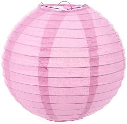 Visork Lantern Wedding Party Annual Dinner DIY Decorative Round Paper Lanterns Lamp Shade Wedding Decoration Assorted Pink 20 cm