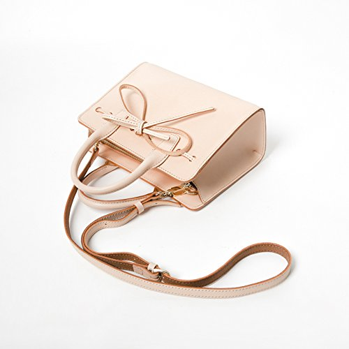 Fashion Primary Crossbody Retro Tanned Bag Designer Tailored Bow Handmade Shoulder Ms Tie Leather Handbag ZwHqZd1
