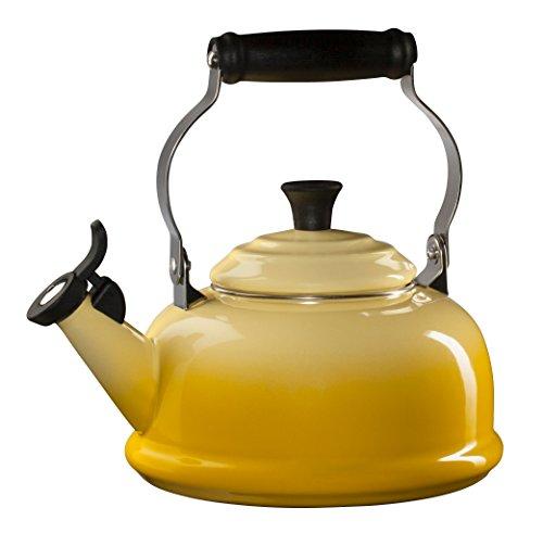 Le Creuset Sun Enamel On Steel Whistling 1.75 Quart Tea Kettle by Le Creuset