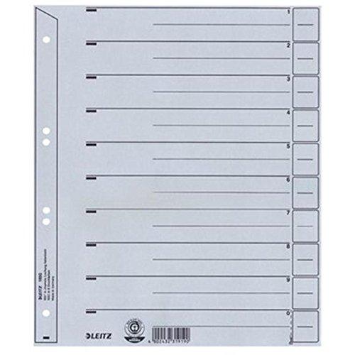 Set per scheda 1650 grigio senza occhielli 100 pcs ESSELTE LEITZ