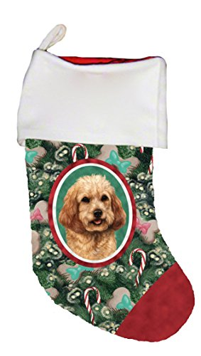 Best of Breed Cockapoo Blonde Dog Breed Christmas Stocking
