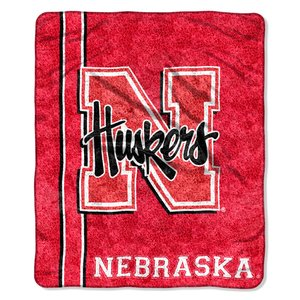 The Northwest Company Officially Licensed NCAA Nebraska Cornhuskers Jersey Sherpa on Sherpa Throw Blanket, 50