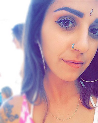 Amazon Com Peacock Swarovski Crystal Indian Nose Ring Septum