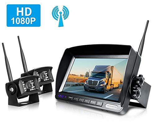 ZEROXCLUB Digital Wireless Backup Camera System Kit for RV/Truck/Trailer/Van/Bus