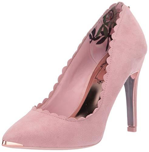 Ted Baker Women's Sloana Pump, Pink Blossom Suede, 8 Medium US