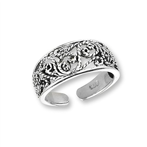 Sterling Silver Antiqued Roped