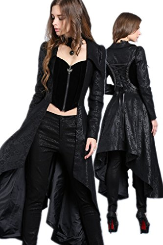 JW092 Gothic long jacket of sides long middle short by DARK IN LOVE