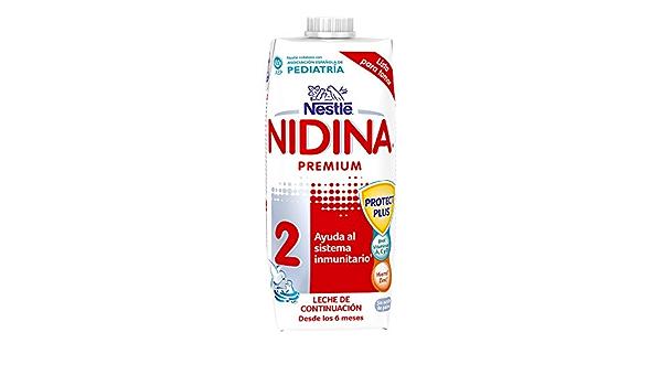 Nestlé Nidina Leche de continuación - Paquete de 12 x 500 ml ...