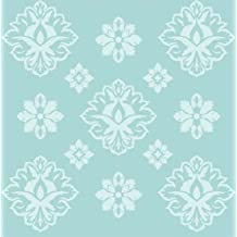 Patterned Rosettes Wallpaper Wall Stencil