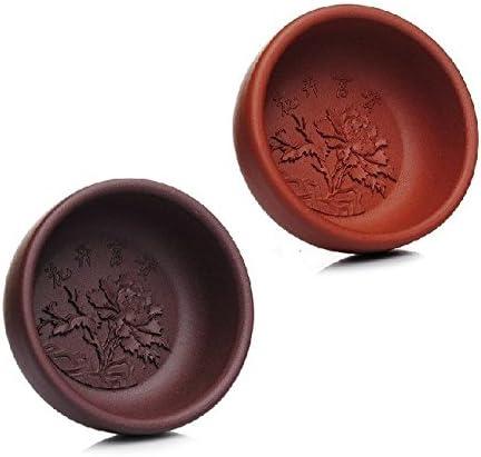 2 Pcs Chinese Hand Crafted Yixing Zisha Gongfu Tea cups