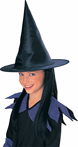 Rubie's Child's Witch Hat with Black Hair by Rubie's