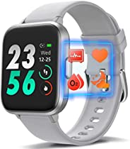 MorePro 18 Sports Mode Smart Watch with Music Control, DIY Screen Fitness Tracker with Blood Oxygen Heart Rate