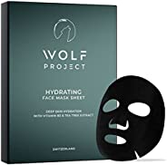 WOLF PROJECT | Hydrating Sheet Mask (5 Pack) - Hydrating and Moisturizing Face Mask For Men - Natural serum, B
