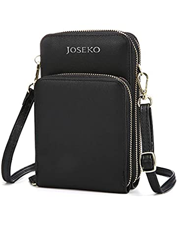 6064e9fa18 JOSEKO Crossbody Bag, Women Solid PU Leather Clutch Bag Card Bag Phone Bag  Crossbody Bag