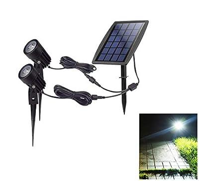 DINGLILIGHTING Outdoor Led Solar Powered Spot Lights Garden Spotlights