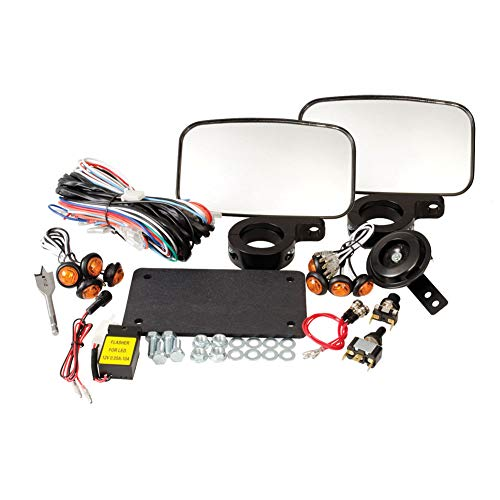Tusk UTV Street Legal Kit- Lights, Horn, Turn Signals, Mirrors, License Plate - POLARIS RZR 570 800-2007-2018
