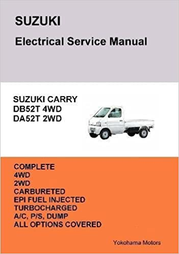 Suzuki carry truck electrical service manual db52t da52t james suzuki carry truck electrical service manual db52t da52t james danko 9781365934889 amazon books fandeluxe Image collections