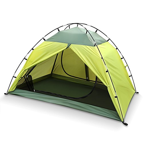 INTEY 2 Person Tent Waterproof Tent 2 Doors Camping Tent for Camping Hiking Traveling with Portable Pack
