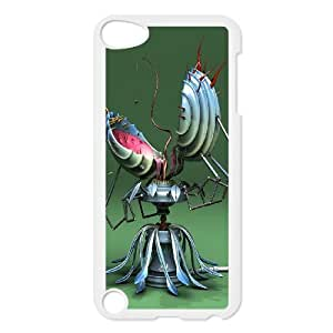 iPod Touch 5 Case White Mechanical mouth flower Deiot