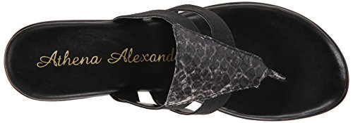 Athena Alexander Women's Louisa Wedge Sandal, Black Python, 7 M US