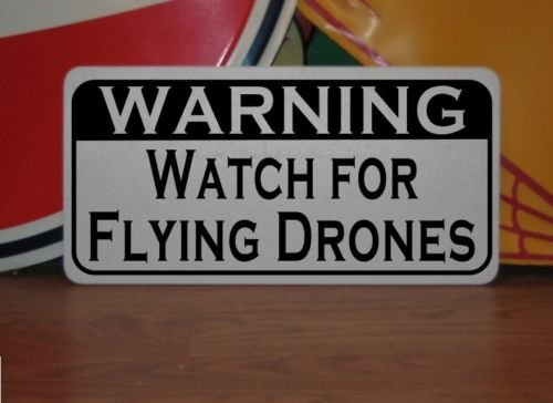 Warning Watch for Flying Drones Vintage Retro Art Deco St...