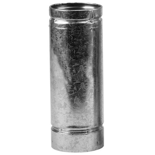 Galvanized Stove Pipe (SELKIRK CORP 244012 4x12 Pellet Stove Pipe)