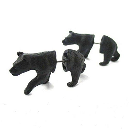 Elakaka Women's Three-Dimensional Leopard Cat Leopard Piercing Earring (Posh Spice Costume)