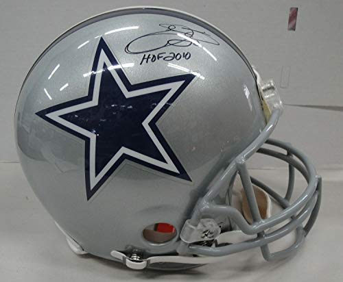 Emmitt Smith Hand Autographed Signed Memorabilia Full Size Authentic Helmet Dallas Cowboys JSA Wp153087