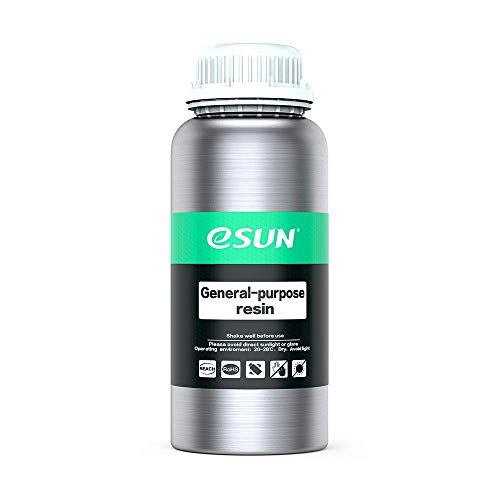- eSUN General Purpose Photopolymer Resin for LCD 3D Printers, UV 405 nm 500ml Gray