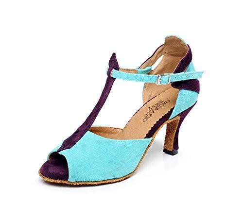 5cm Latin heeled8 strap Salsa Hauts Chaussures JSHOE Tango Our43 Talons Party Jazz UK7 Danse Ballroom Blue Femmes De Danse EU42 Latino T Chaussures Sexy 5 tIqIwRH4