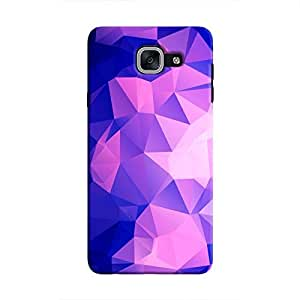 Cover It Up - Dark Purple Pixel Triangles Samsung Galaxy J7 Max Hard Case