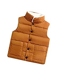 zhxinashu Cotton Down Jacket Kids Waistcoat Children Sleeveless Vest Outerwear