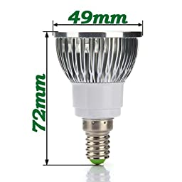 E14 4W Warm White LED Energy Saving Spot Light Bulb 85-265V