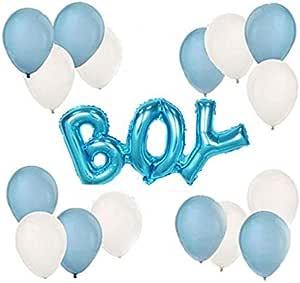 18 Blue & White Bouquet - BOY Shower - Salux Balloons