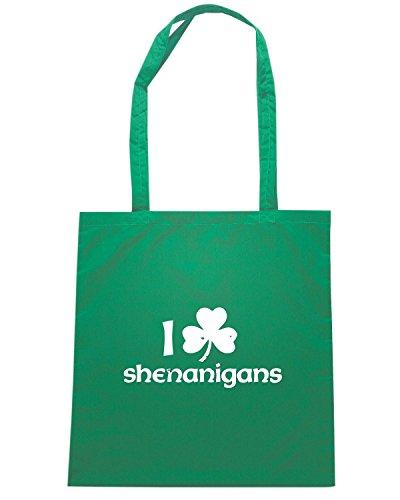 T-Shirtshock - Bolsa para la compra TIR0076 i shamrock shenanigans dark tshirt Verde