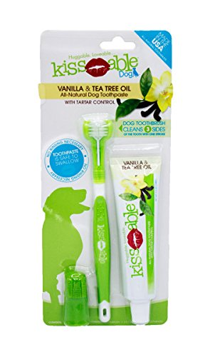 KissAble Toothbrush and Toothpaste Combo Kit for Dogs