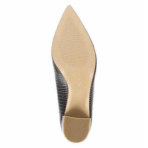 Evita Shoes Romina Damen Pumps Geprägtes Leder Bordeaux