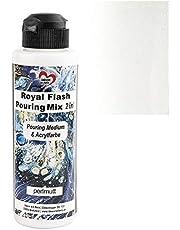 Ideen mit Herz Royal Flash Pouring Mix 2 w 1 | Pouring Medium & Metallic farba akrylowa z efektem brokatu | 180 ml | bez konieczności mieszania płynów, mediów lub oleju silikonowego (masa perłowa)