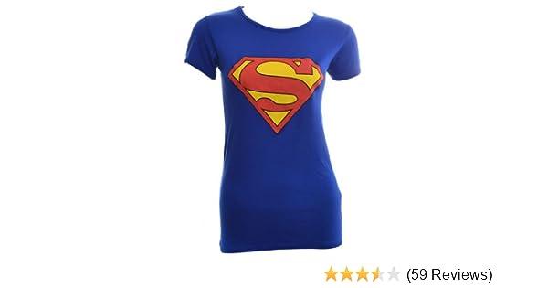 fedb730d854 Amazon.com  VIP Womens Superman T Shirt Top (M L (10-12)
