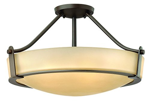 Hinkley 3221OB Transitional Four Light Semi-Flush Mount from Hathaway collection in Bronze/Darkfinish,
