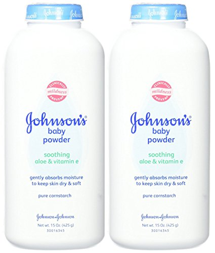 Johnson's Baby Powder, Soothing Aloe & Vitamin E, 15 Ounce (Pack of 2) by Johnson's Baby
