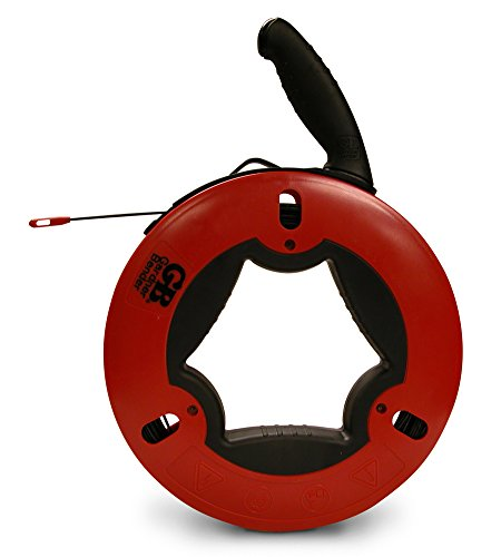 Gardner Bender FTN-100R Fish Tape, Non-Conductive Fiberglass Tape, Nylon / ABS Housing & UpperHand Design with Rubber Grip, 100 Ft. Tape Length, Tough & Durable, ⅛ Inch Tape Width, Patented, Impact Modified Handle & Housing, Fishing Tape, Red & Black Nylon Fish Tape