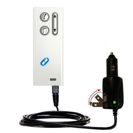Intelligent Dual Purpose DC Vehicle and AC Home Wall Charger suitable for the Oticon Streamer - Two critical functions, one unique charger - Uses Gomadic Brand TipExchange Technology (Streamers Unique compare prices)