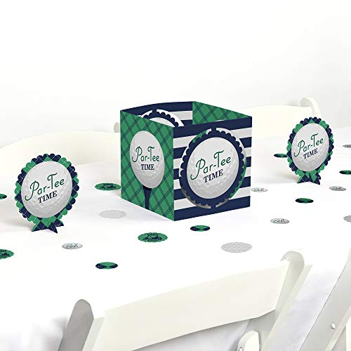 Big Dot of Happiness Par-Tee Time - Golf - Birthday or Retirement Party Centerpiece & Table Decoration Kit -