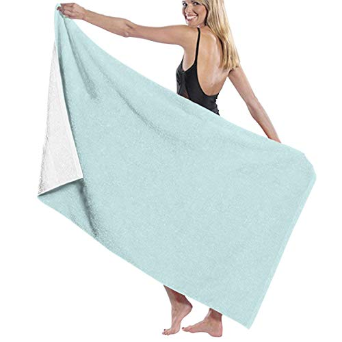 Feesoz Classic Duck Egg Pale Aqua Blue Beach Towel Travel Towels for Camping,Sports,Yoga,Swimming,Gym Quick Dry Bath Towel 31.5