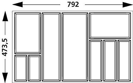 Portaposate Per Cassettiera Da 90 Cm.Divisorio Per Cassetto Portaposate Cassetta Posate Arcitec Telaio